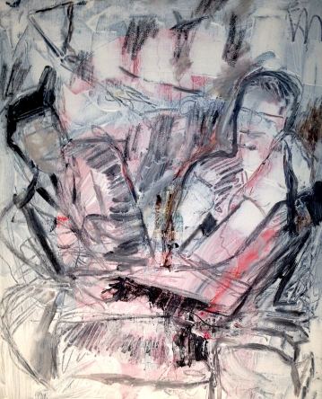 """Untitled (Absence Study). Acrylic and charcoal on canvas. 16"""" x 20"""""""