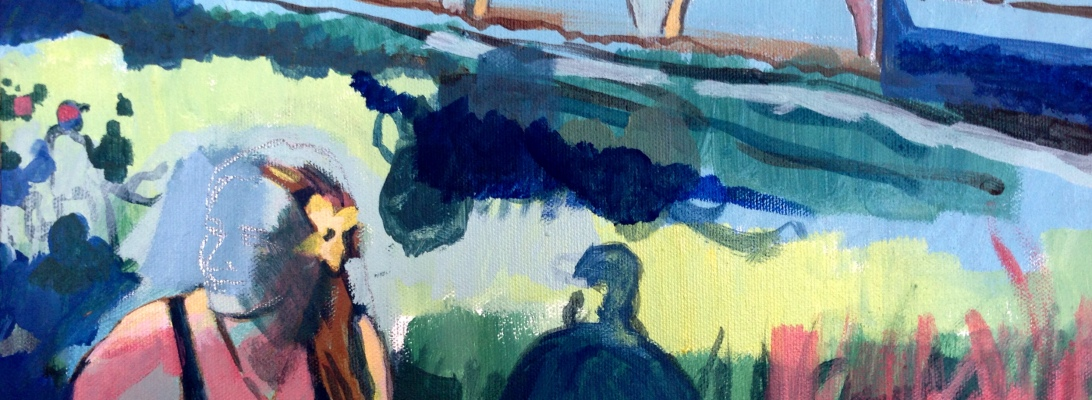 In-progress Portrait. Acrylic on canvas. 11 x 14