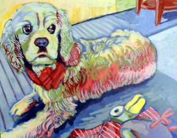"Percy. Acrylic on canvas. 8"" x 10"""
