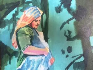 Kirstin under-painting