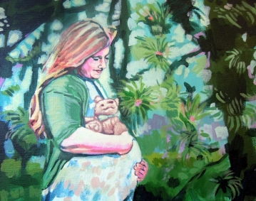 "Kirstin. Acrylic on canvas. 8"" x 10"""