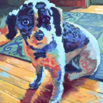 """Oreo. Acrylic on canvas. 8"""" x 10"""""""