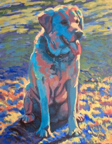 "Stewie. Acrylic on canvas. 11"" x 14"""