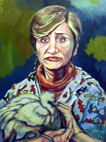 Portrait of Ms. Blank. Acrylic on canvas. 18 x 24.