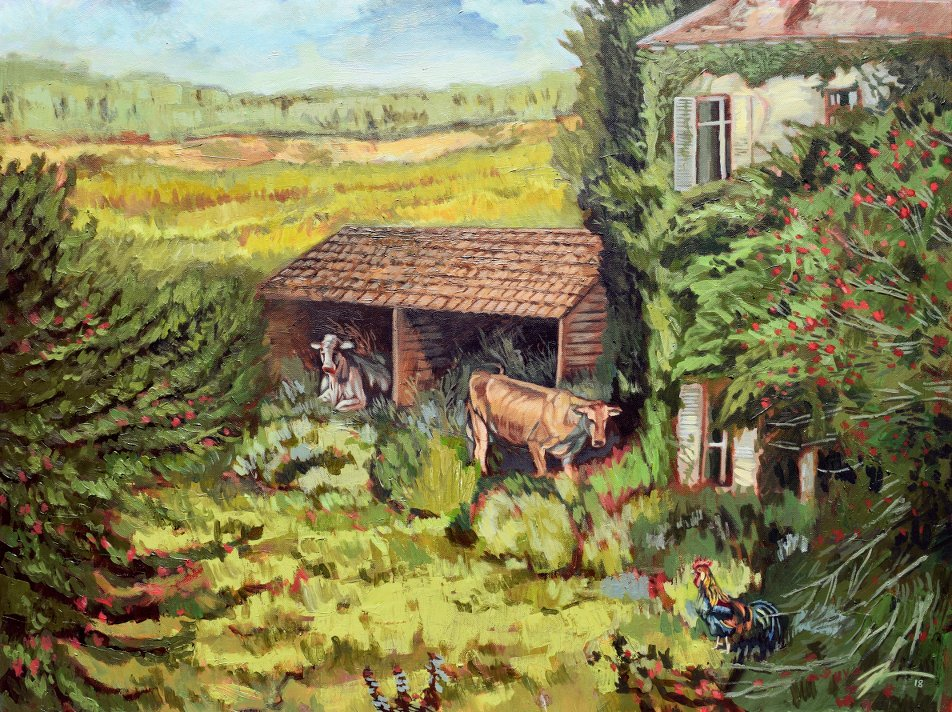 Dans La Campagne. Acrylic on canvas. 30